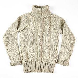 Talbots Vintage Cable Knit Turtleneck Sweater
